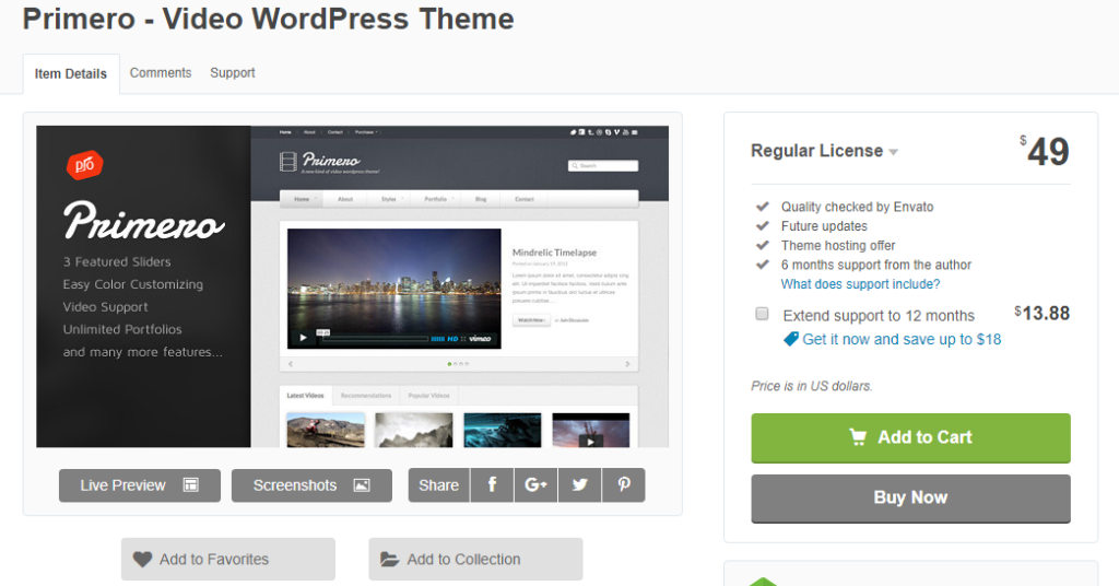 wordpress video teması