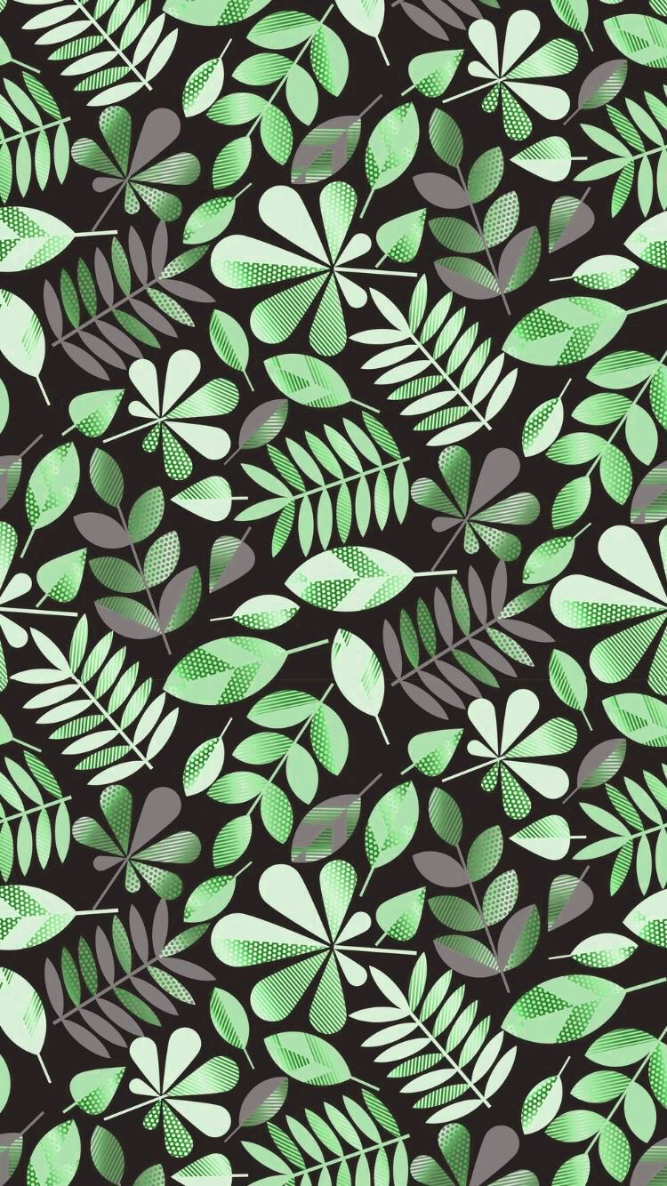 Random Green Leaves Aesthetic Phone Wallpaper Fisoloji